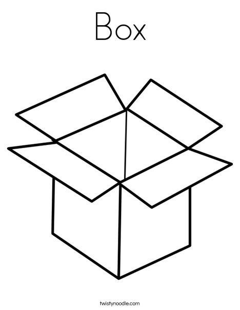 B is for Box Coloring Page