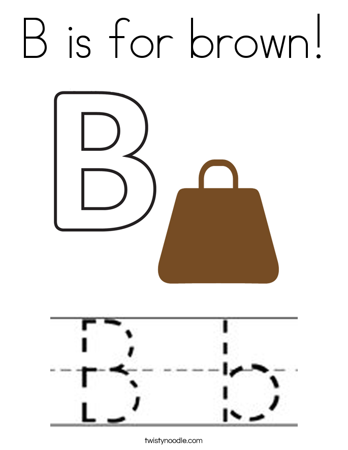 B is for brown! Coloring Page