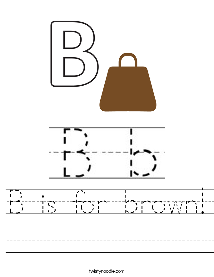B is for brown! Worksheet