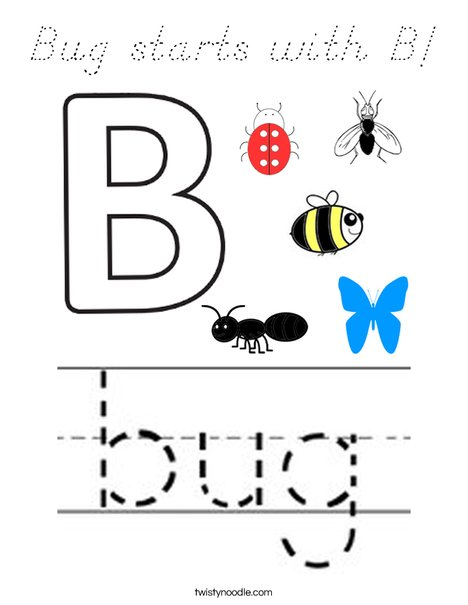 B is for Bug! Coloring Page