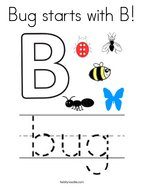 Bug starts with B Coloring Page