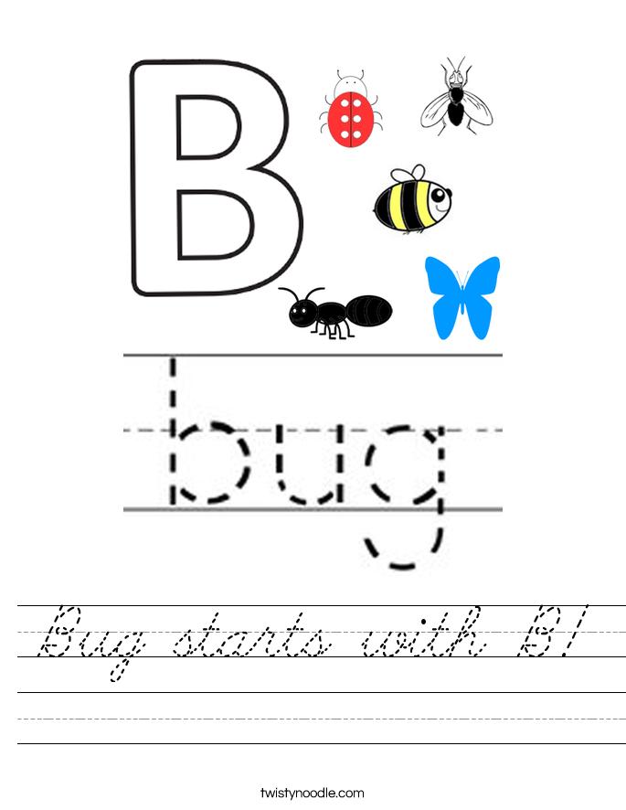 Bug starts with B! Worksheet