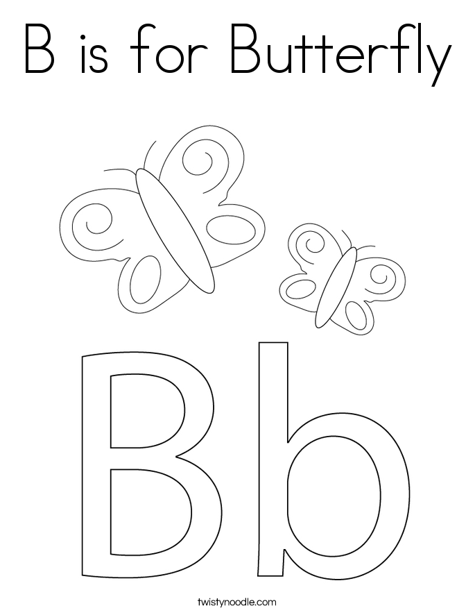 letter b coloring pages  twisty noodle, coloring pages