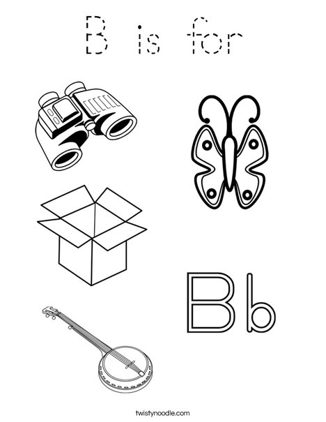 B is for Coloring Page