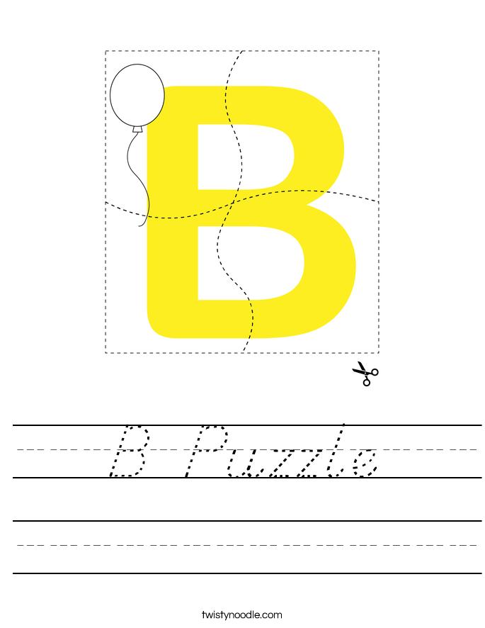 B Puzzle Worksheet