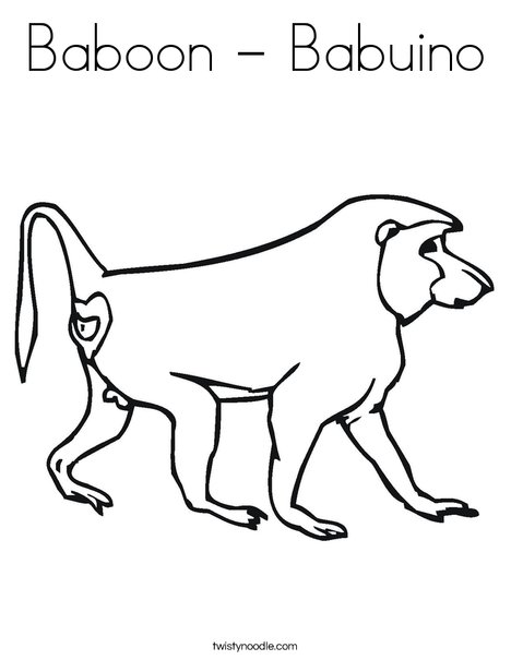 Superb Baboon Coloring Page