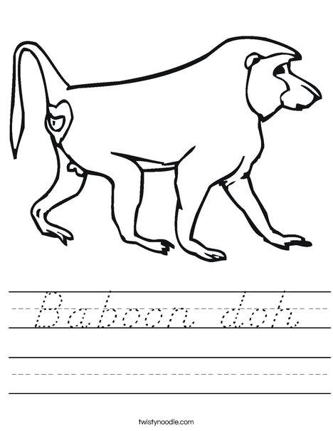 Baboon Worksheet