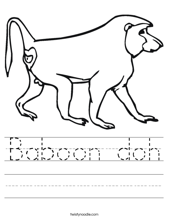 Baboon doh Worksheet