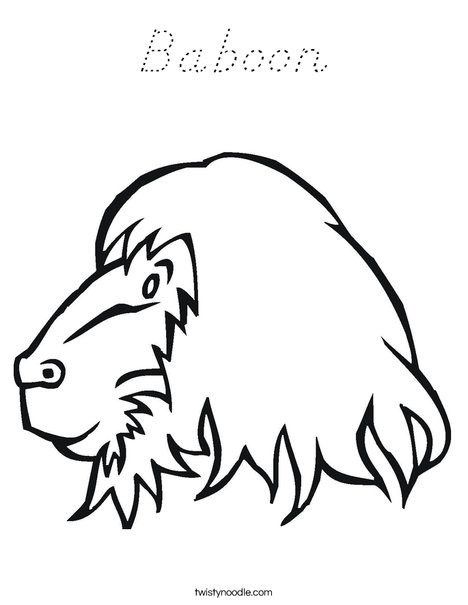 Baboon Head Coloring Page