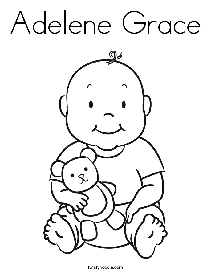 Adelene grace coloring page twisty noodle for Grace coloring page