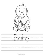 Baby Handwriting Sheet