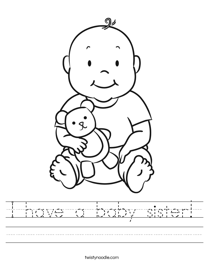 I have a baby sister! Worksheet