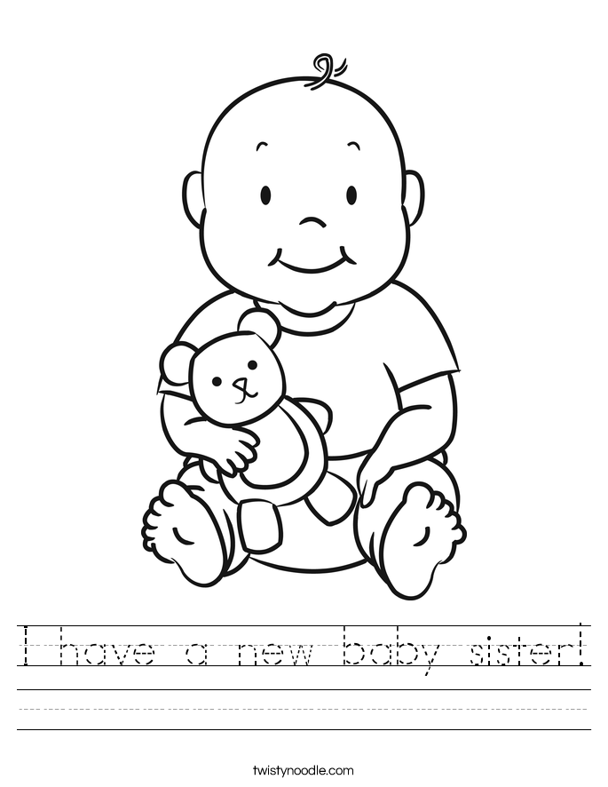 I have a new baby sister! Worksheet