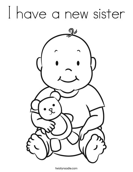 Baby 1 Coloring Page
