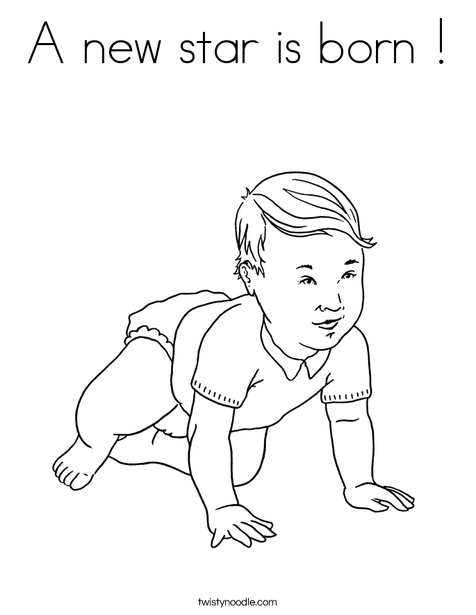A new star is born Coloring Page - Twisty Noodle