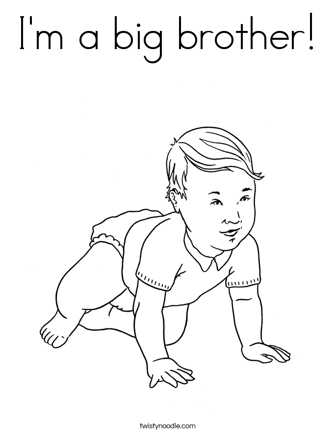 I'm a big brother! Coloring Page