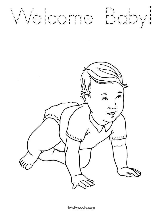 Welcome Baby! Coloring Page