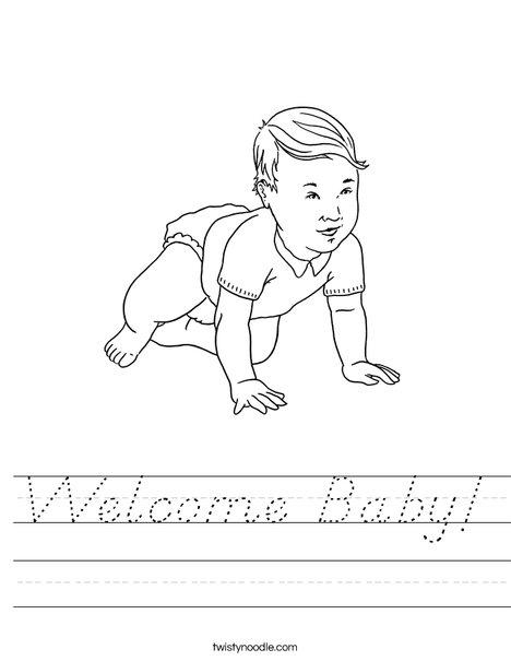 Welcome Baby Worksheet
