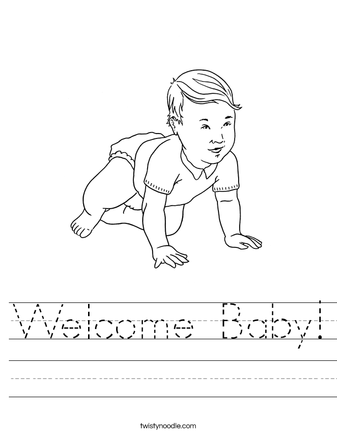 Welcome Baby! Worksheet