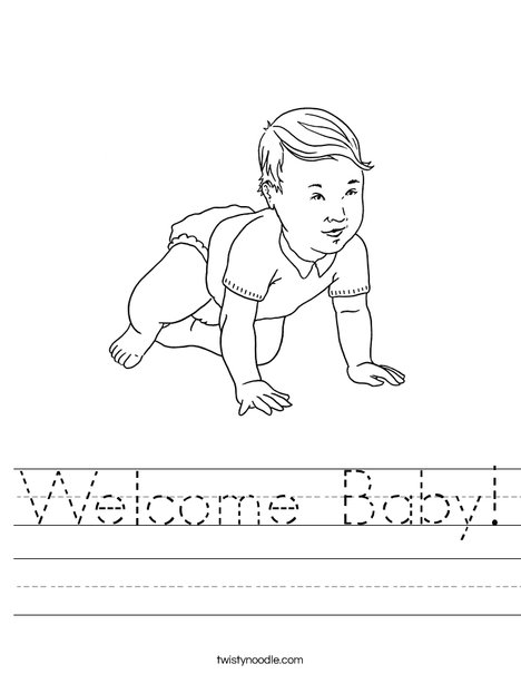 Welcome Baby Worksheet