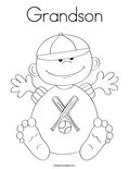 Grandson Coloring Page