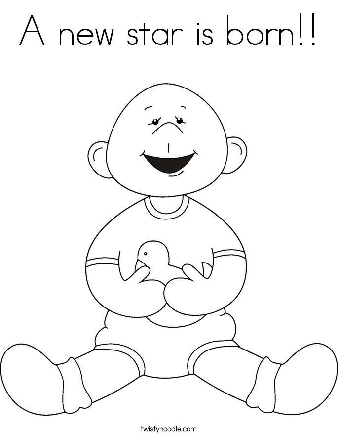 A new star is born!! Coloring Page
