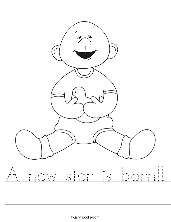 A new star is born!! Worksheet