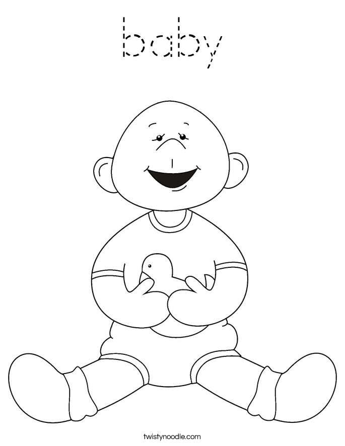 baby blocks coloring pages - photo #23