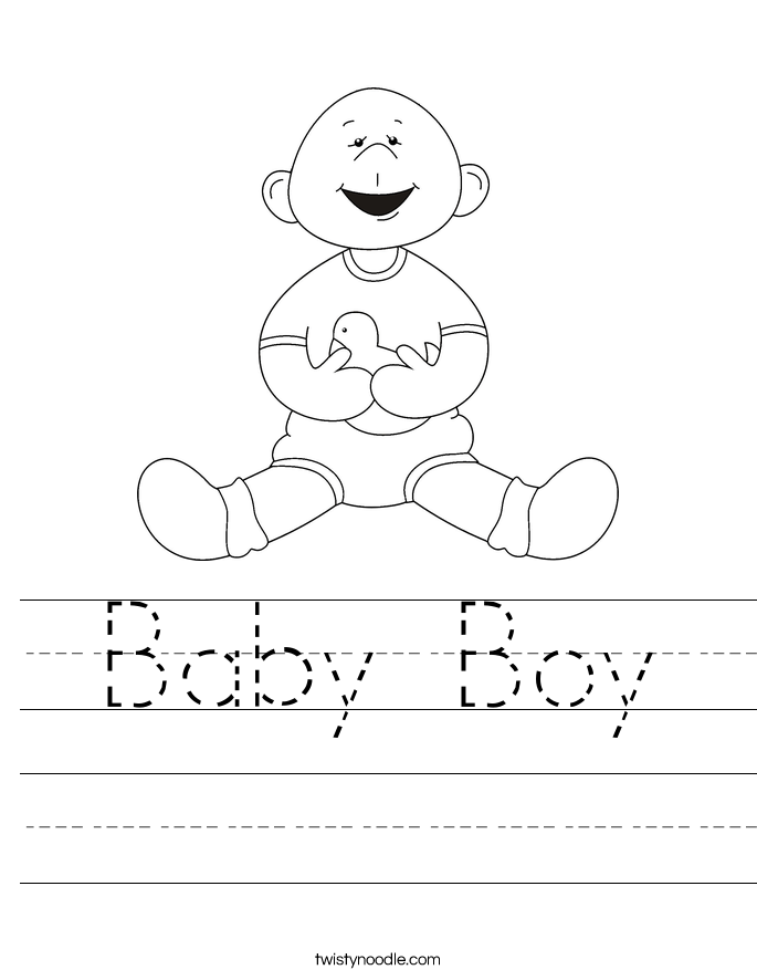 Baby Boy Worksheet