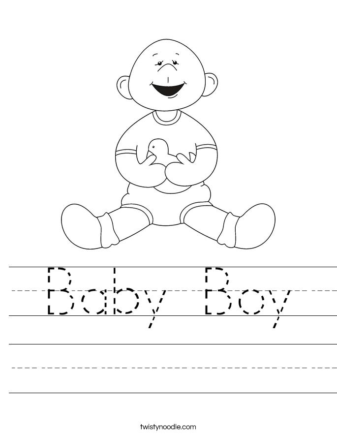 Baby Boy Worksheet