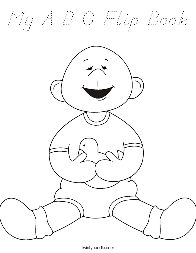 My A B C Flip Book Coloring Page