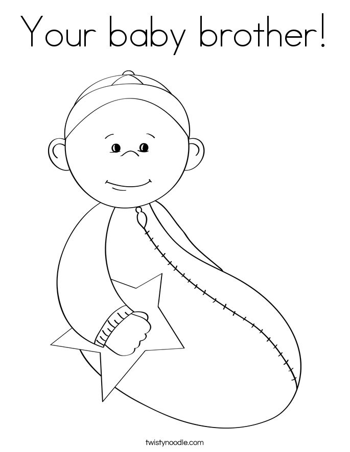 Your Baby Brother Coloring Page Twisty Noodle