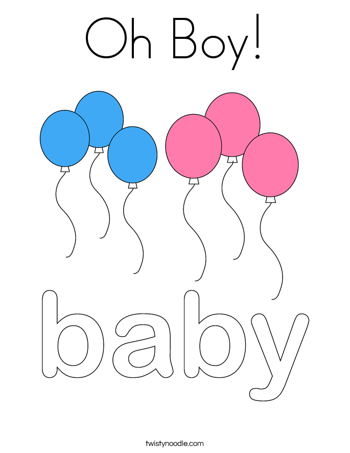 its a boy! Colouring Pages