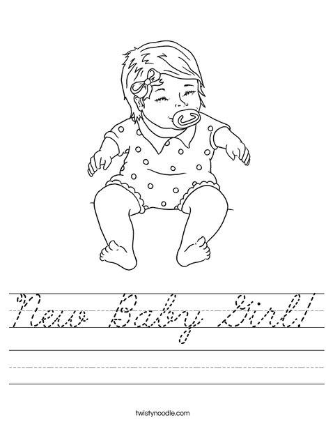 Baby Girl Worksheet