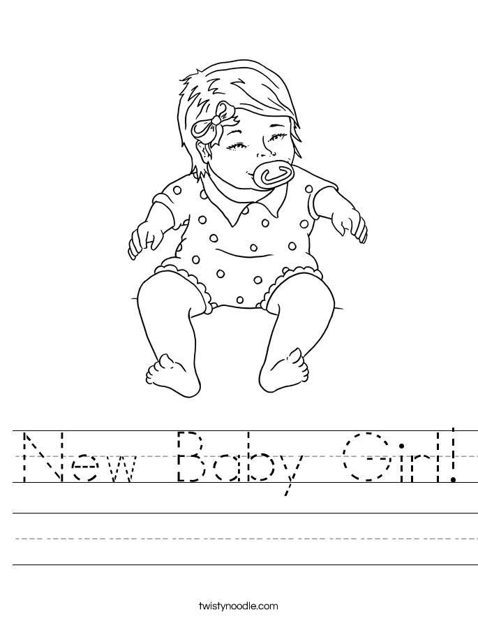 New Baby Girl! Worksheet