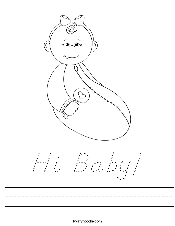 Hi Baby! Worksheet