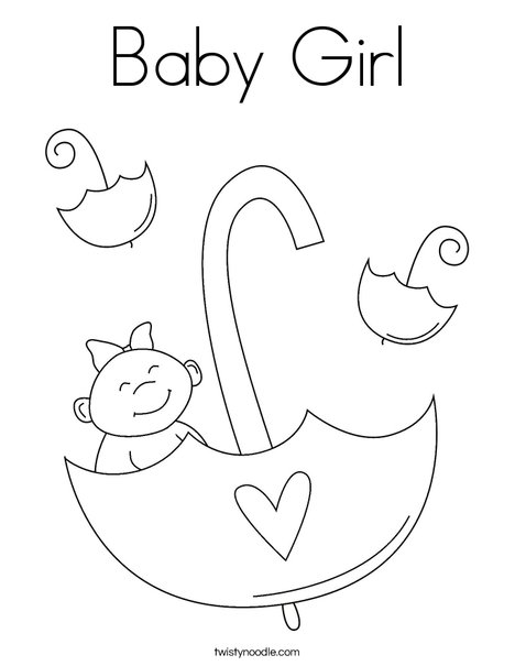 Baby Girl Coloring Page - Twisty Noodle