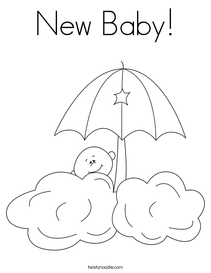 Free coloring pages of baby baby