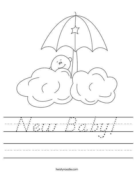 Baby in the clouds Worksheet
