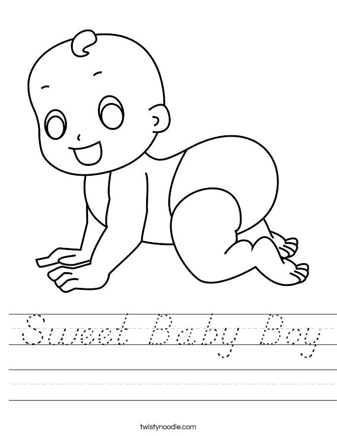 Sweet Baby Boy Worksheet