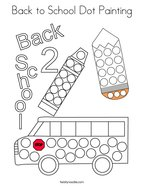 Back to School Dot Painting Coloring Page