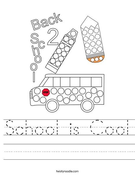 Back to School Dot Painting Worksheet