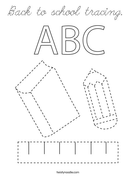 Back to school tracing. Coloring Page
