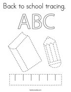 Back to school tracing  Coloring Page