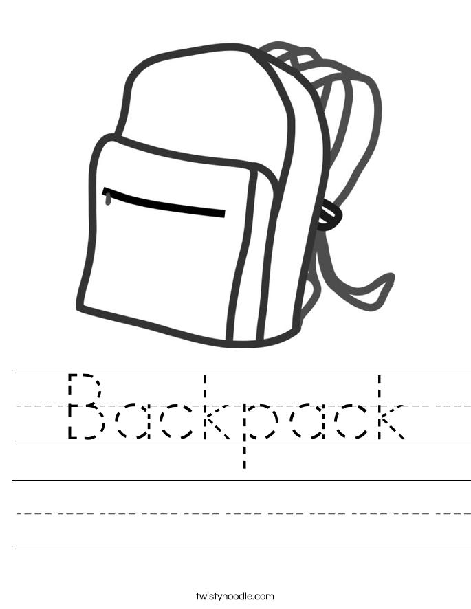 Backpack Worksheet