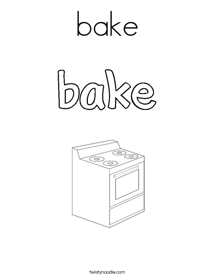 bake Coloring Page