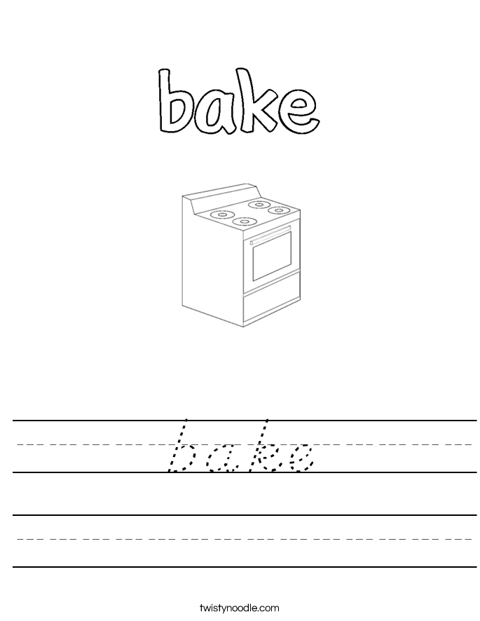 bake Worksheet