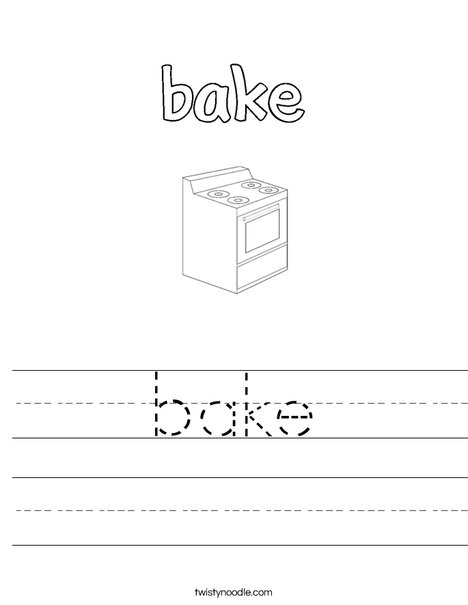 Bake Worksheet
