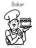 Baker    Coloring Page