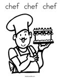 chef  chef  chef Coloring Page